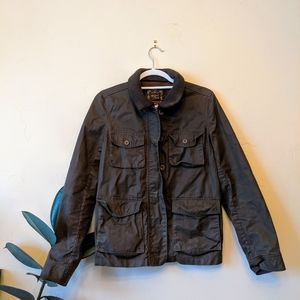 J. Crew Waxed Cotton Utility Jacket